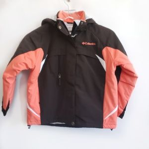 Columbia winter jacket youth size 6 brown coral